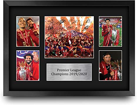 Liverpool Premier League Champions 2019/2020 Display Signed Gift Framed A3