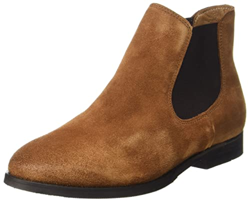 Womens Sfbeathe Leather Chelsea Boots, Brown Selected
