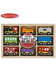 Melissa & Doug  Wooden Train Cars Train