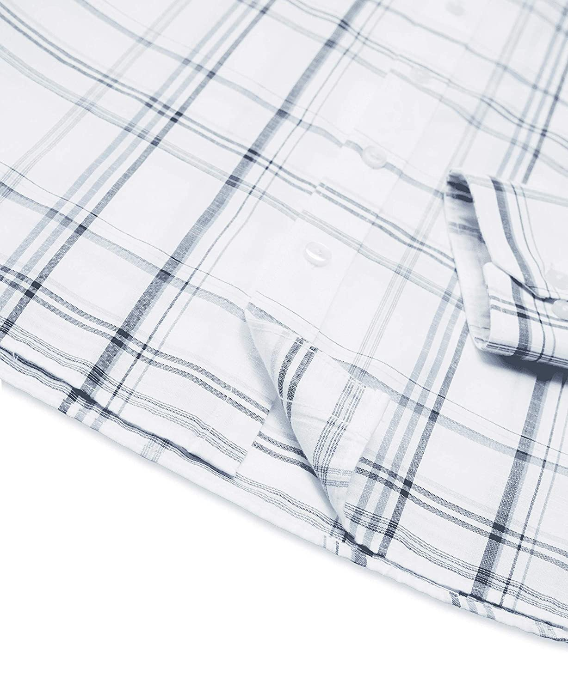 Van Heusen Mens Big and Tall Never Tuck Long Sleeve Button Down Plaid Shirt