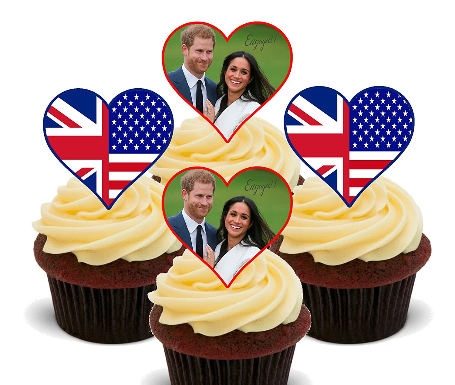 Prince Harry and Meghan Royal Engagement - Edible Cake Decorations ...