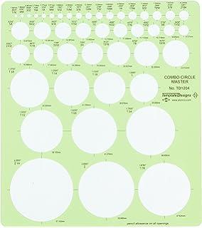 amazon com westcott jumbo circles geometric template 8 3 4 x 11 1