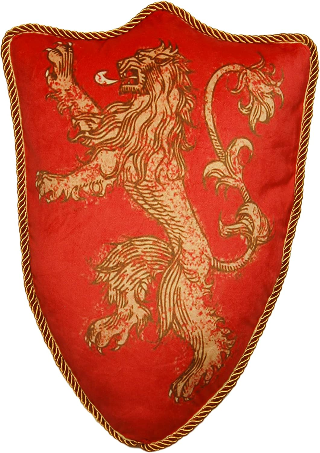 Game of Thrones House Lannister Lion Sigil Throw Plush Pillow