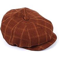 Erkek Keten Kasket Yazlık 5 Renk Newsboy Şapka (KİREMİT)