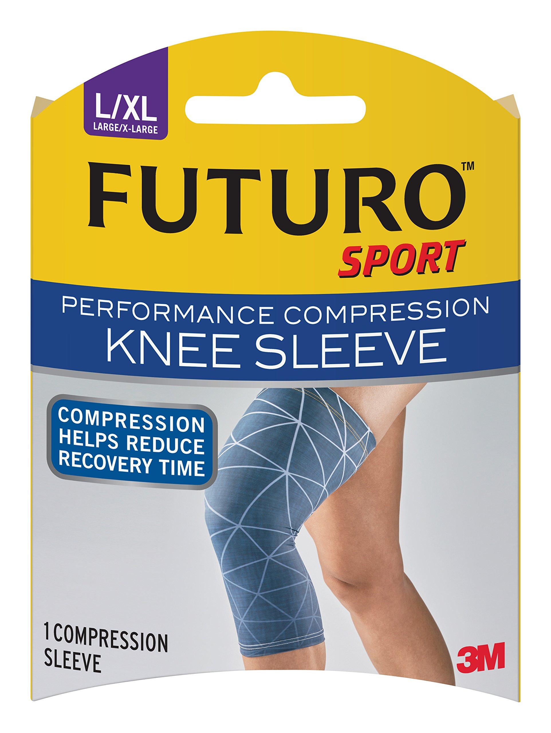 Futuro Sport Performance Compression Knee Sleeve, Large/X-Large
