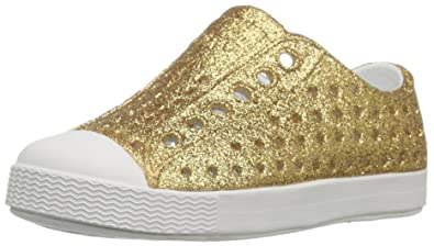 d2ecb35c9e043 Native Shoes Girls  Jefferson Child-K Slip-On Gold Bling Glitter Shell