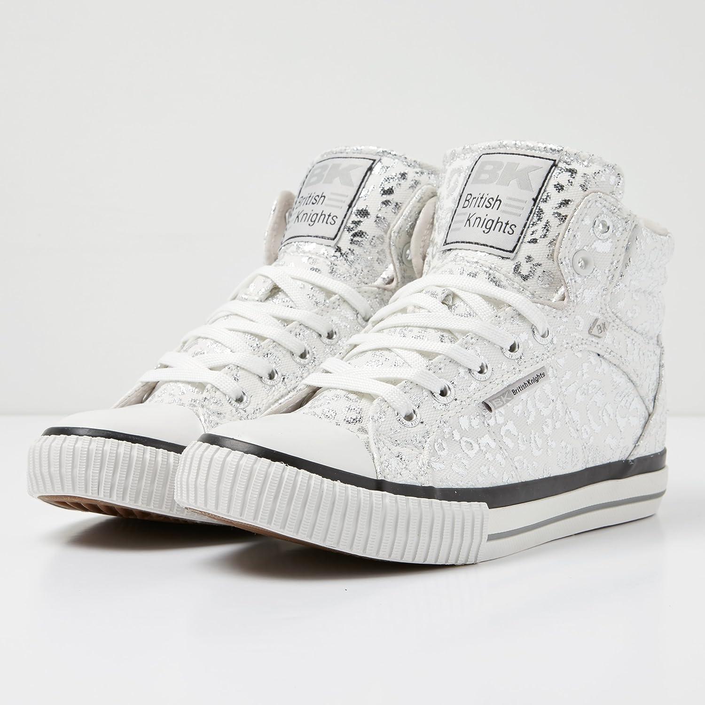 British Knights Roco Silber Silver Schuhe Metallic Canvas Sneaker Herren Damen