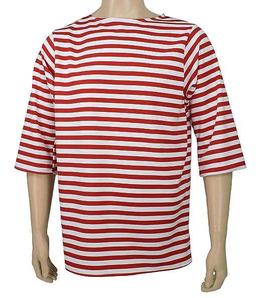 Amazon.com: De los hombres traje camisa de rayas, XXL, Rojo ...