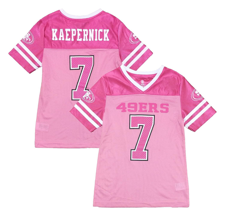 ea314978233 Amazon.com  Colin Kaepernick San Francisco 49ers  7 Pink Dazzle Girls Youth  Jersey (Large 10 12)  Clothing