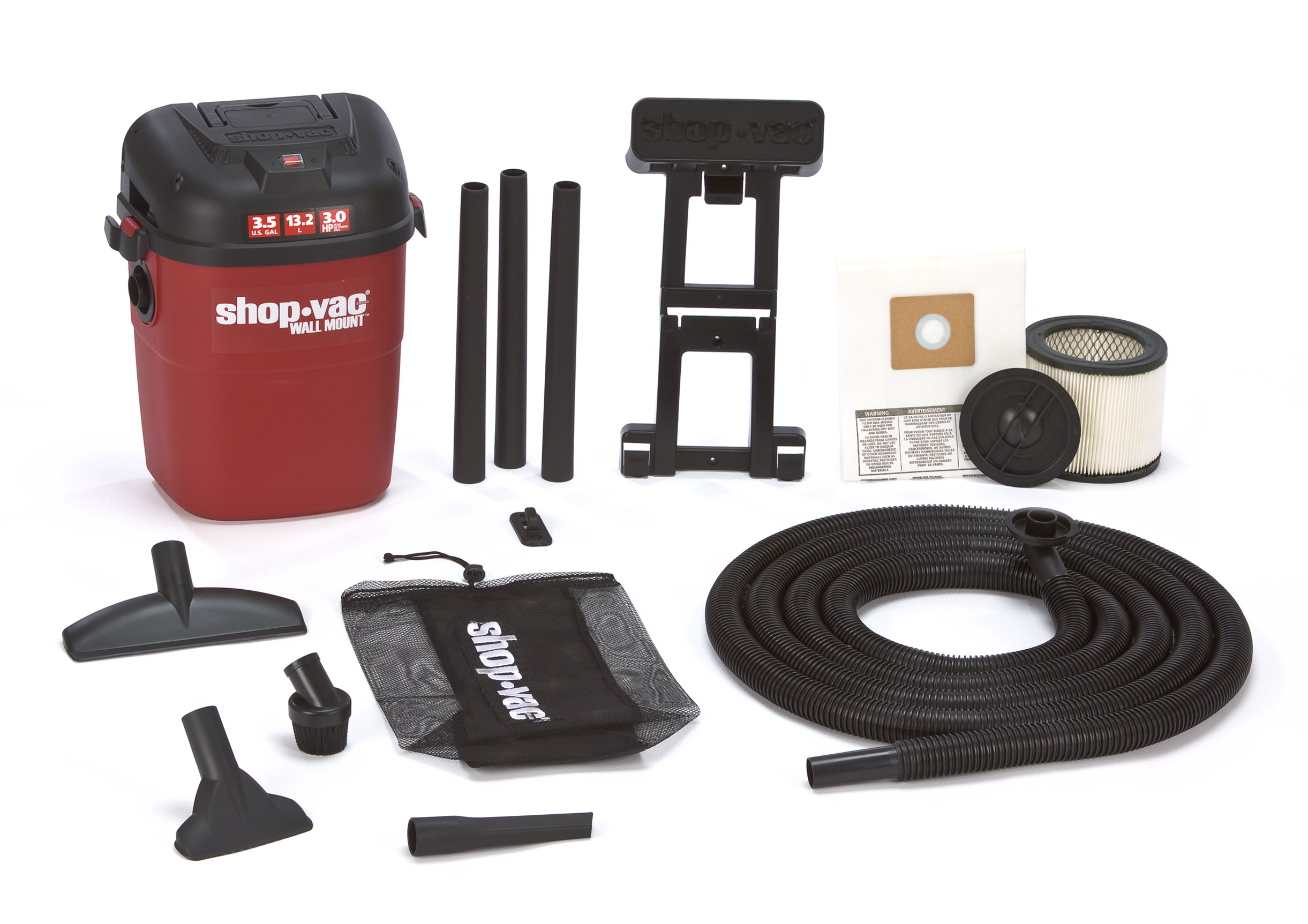 Shop-Vac 3940100 3.5-Gallon 3.0-Peak HP Wall Mount Wet/Dry Vacuum by Shop-Vac