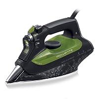 Rowenta DW6010D1 Fer à Repasser Vapeur Eco Intelligence Effet Pressing jusqu'à 180g/min Economie Energie Anti-goutte 2400W Noir et Vert