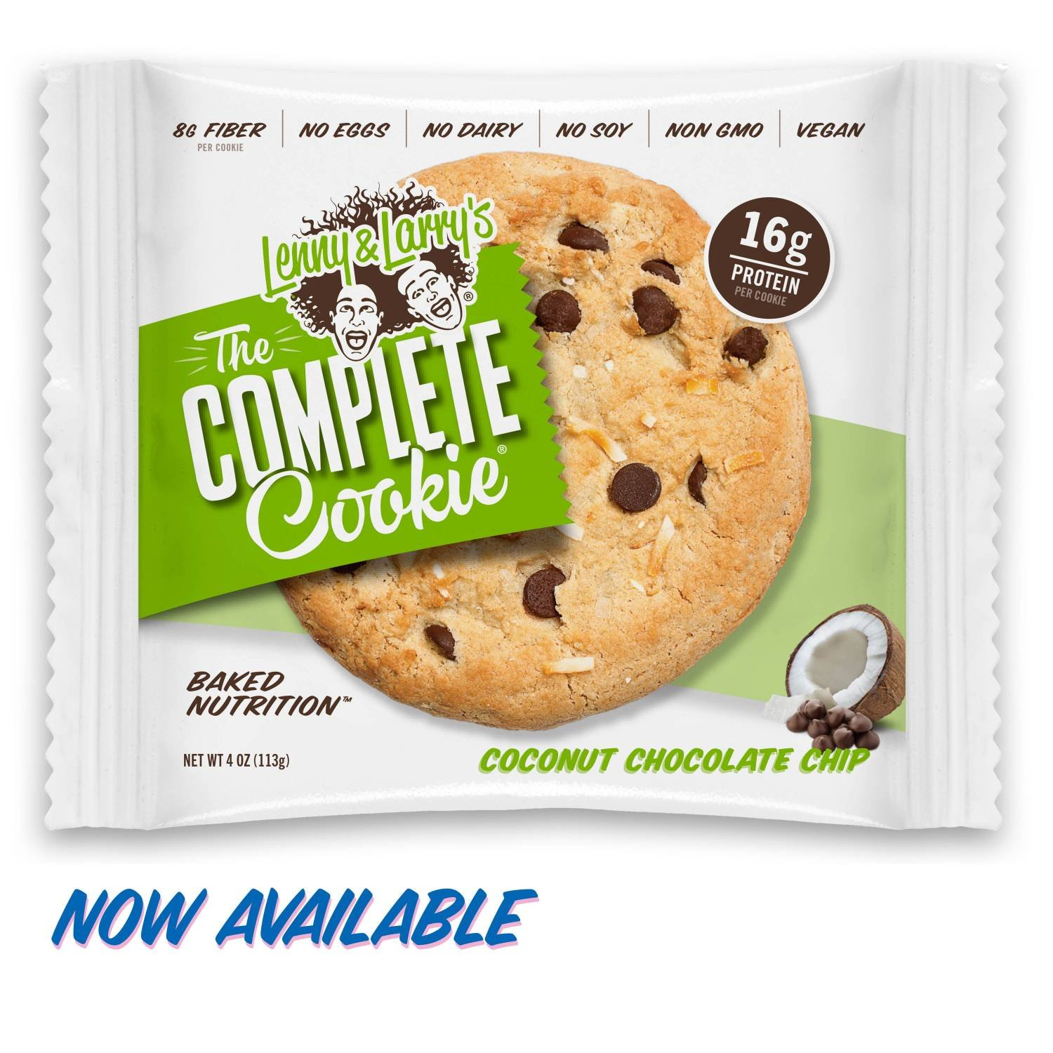 [SALE] Lenny & Larry's The Complete Cookie, Coconut Chocolate Chip, 4-Ounce Cookies (Pack of 12) by Lenny & Larry's (Image #1)
