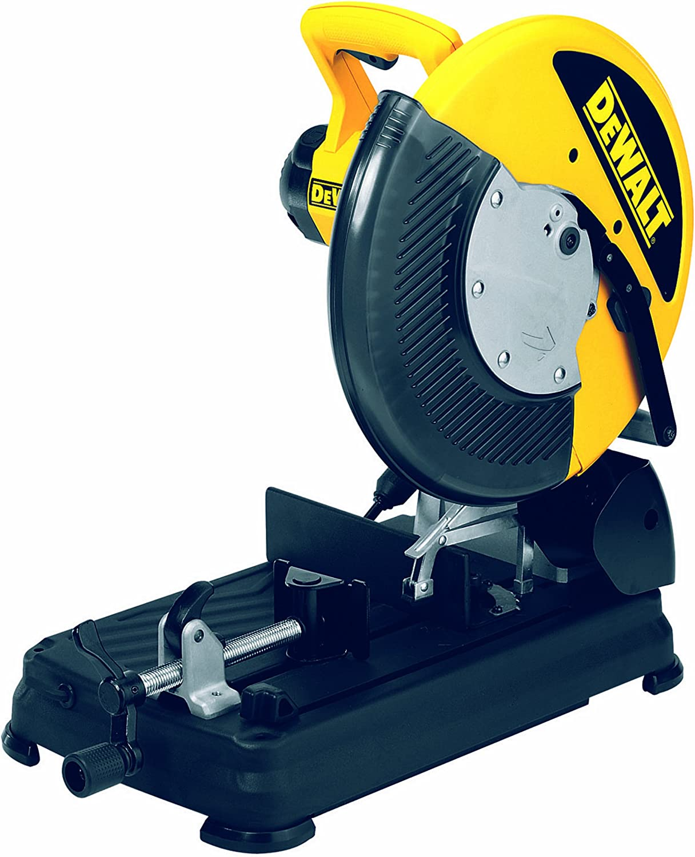 Dewalt DW872-QS Tronzadora de Corte rápido 2.200W-diámetro de 355 mm 1.300 RPM Disco Pastilla, 220 V, Negro y amarillo