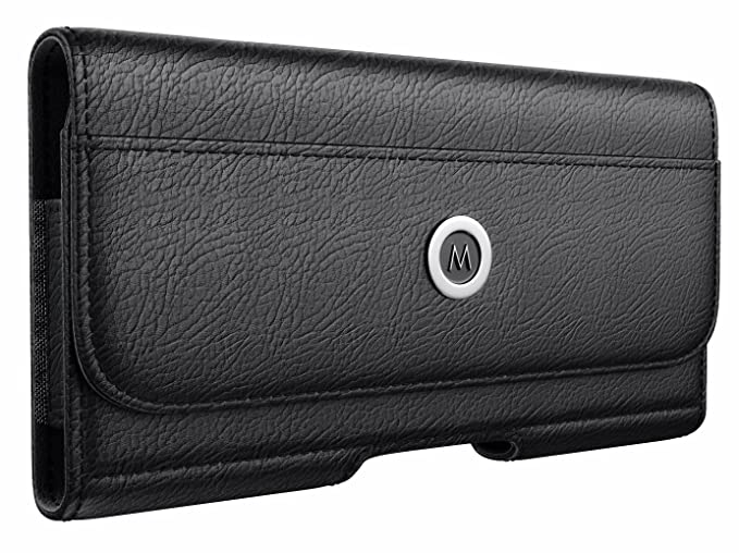 timeless design da489 d3d5d Meilib iPhone Xs Max Holster Case - Premium Leather Belt Clip Case Pouch  Holster Case with Belt Clip for Apple iPhone Xs Max (Fit Cell Phone with  Thin ...