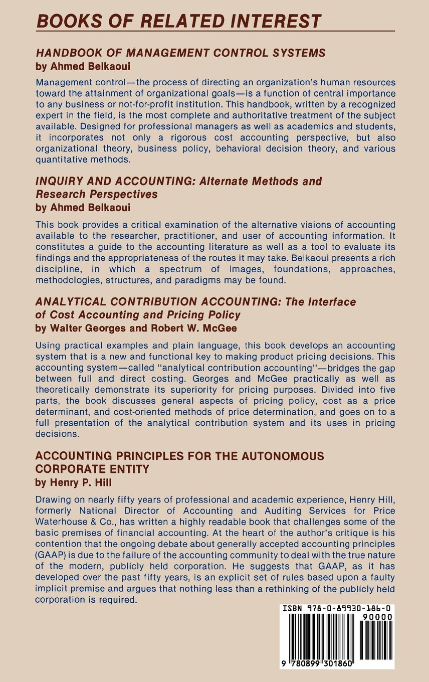 Quantitative Models In Accounting: A Procedural Guide For Professionals:  Ahmed Riahibelkaoui: 9780899301860: Books  Amazon