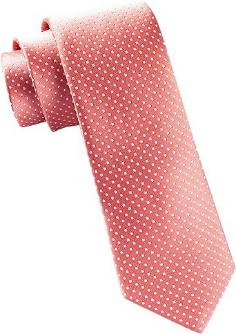 TheTieBar - Corbata de seda 100% tejida, color coral: Amazon.es ...