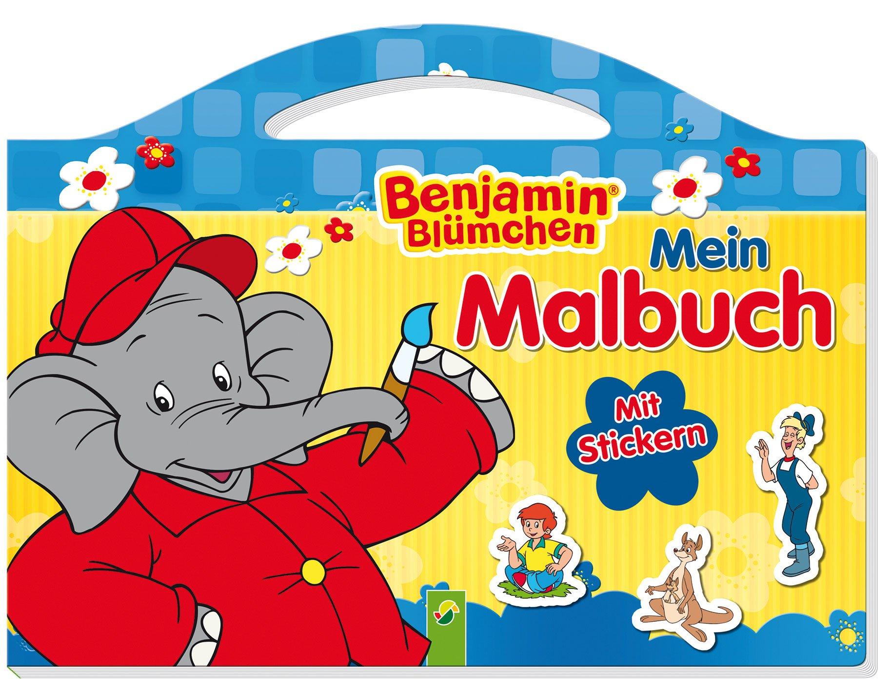 Benjamin Blümchen - Mein Malbuch: Mit Stickern