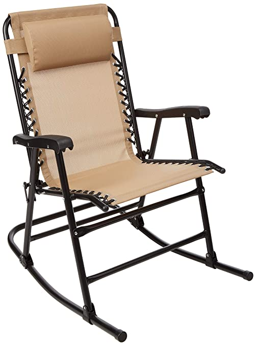 Amazon.com: AmazonBasics Silla de mecedora plegable ...