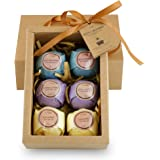 Bath Bombs - Hand Selected Ultra Spa Fizzies w/ Lavender, Orange, and Eucalyptus Essential Oils Natural Ingredients for Lush, Calming Relaxation in a Box, Shea Butter Moisturizing Dry Skin 6 Count