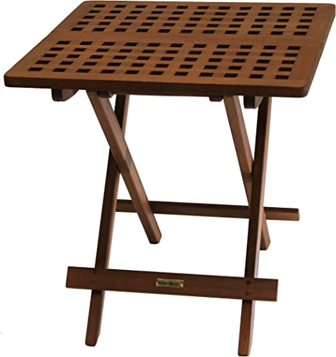 Outdoor Interiors 10070 Eucalyptus Folding Side Table