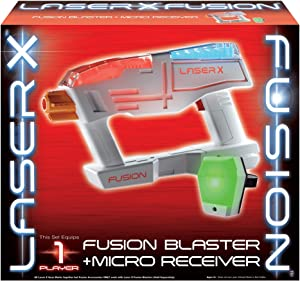 LASER X Fusion Blaster + Micro Receiver Blaster Toy (One Player)