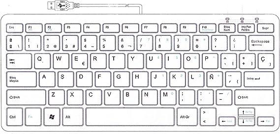 Compacto Mini Teclado MacBook Pro//Air PC de Escritorio de Windows Lap Delgado Teclado de computadora para Apple Mac iMac Divisible Espa/ñol QWERTY Mac Mini R-Go Split Teclado con Cable USB