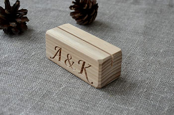 Amazoncom Personalized Wood Place Card Holders For Weddings DIY - Custom restaurant table numbers