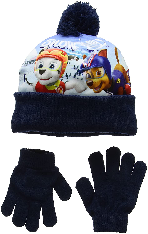 Nickelodeon Boy's Paw Patrol Snowing Scarf, Hat & Glove Set