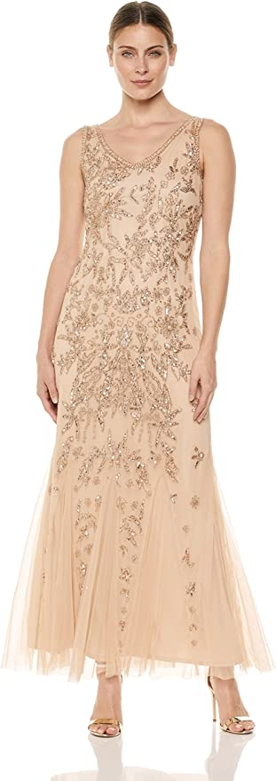 1920s Dresses UK | Flapper, Gatsby, Downton Abbey Dress Pisarro Nights Womens Long Dress with Double V-Neck Special Occasion £242.97 AT vintagedancer.com