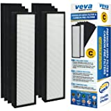 VEVA Premium True HEPA Replacement Filter 2 Pack Including 6 Carbon Pre Filters compatible with Air Purifier AC5000 Series and Filter C
