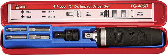 Genius Tools 464110 1//2 Dr 5//16 Hex Impact Bit Holder