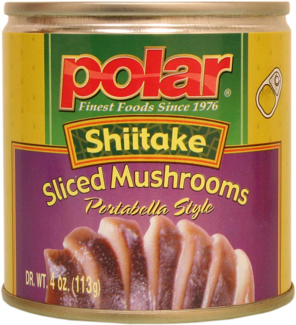 MW Polar Foods Shiitake Mushroom Slice, 4-Ounce (Pack of 24)