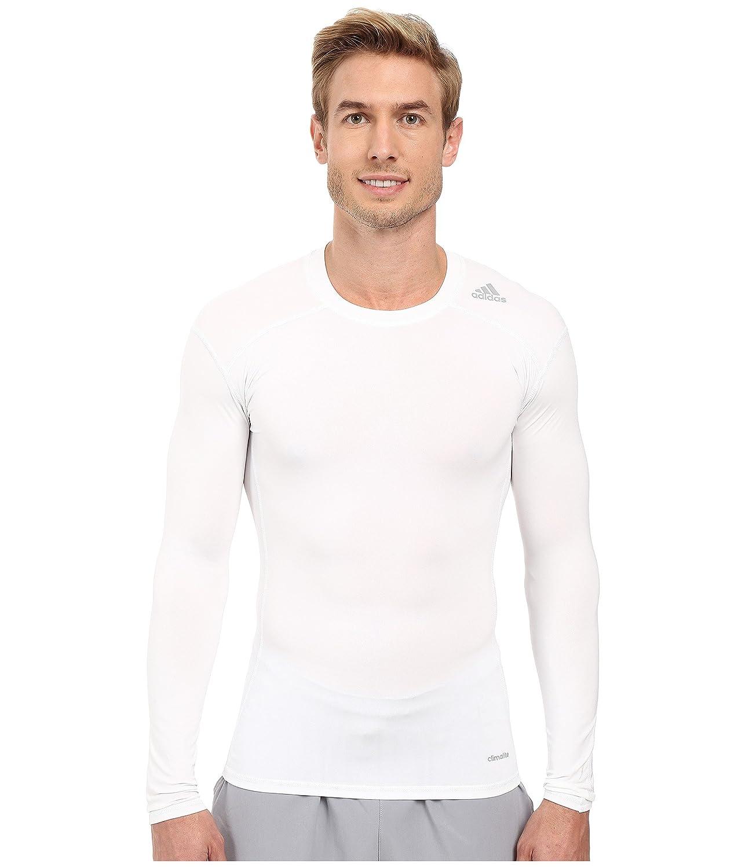 adidas メンズ Techfit ベースレイヤー 長袖 B0108S01P2 X-Large|ホワイト ホワイト X-Large