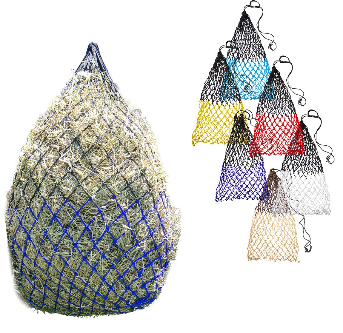 Derby Originals 42'' Superior Slow Feed Soft Mesh Poly Rope Hanging Hay Net with 2x2'' Holes by Derby Originals