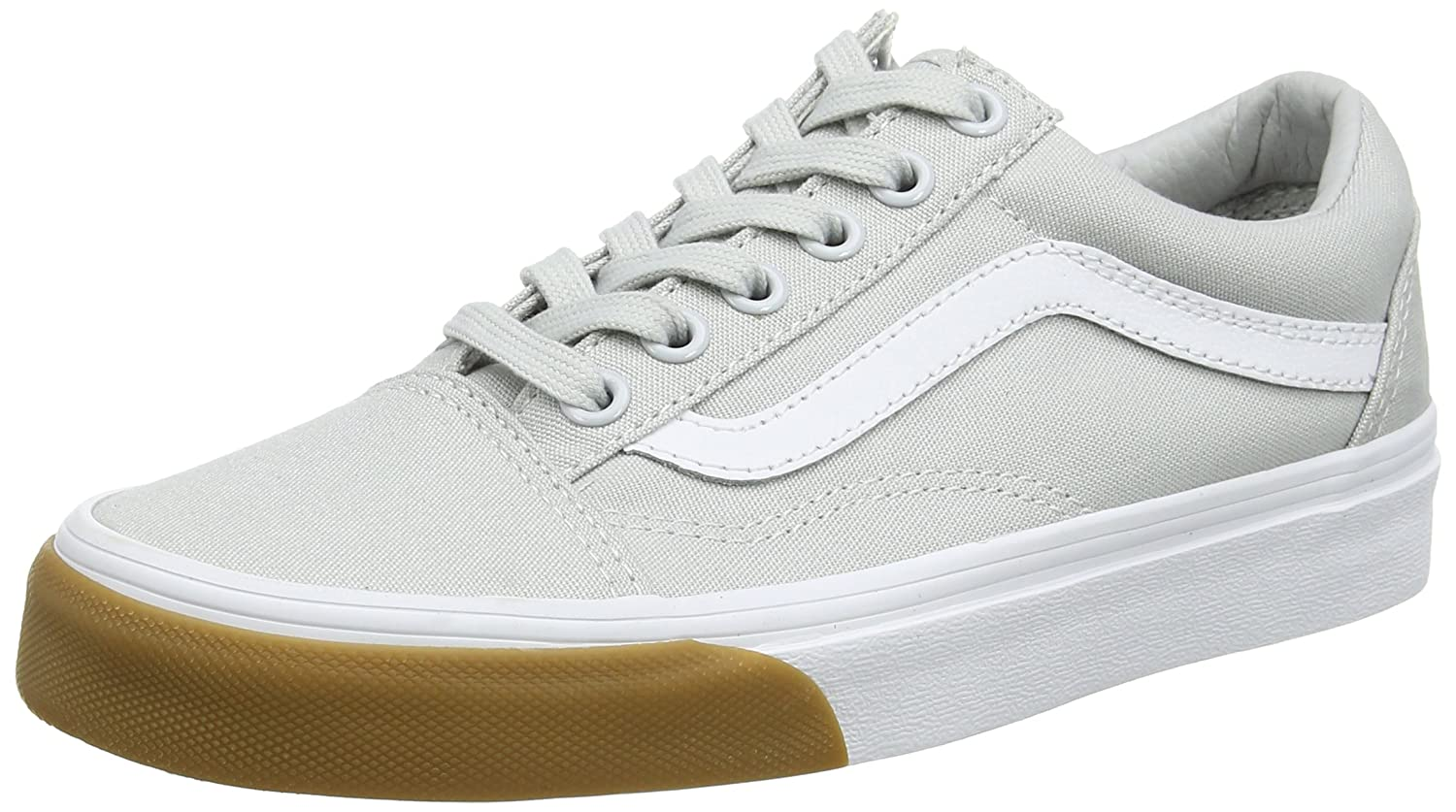 Vans Old Skool Unisex Adults' Low-Top Trainers B06Y5SG9V3 7.5 M US Women / 6 M US Men|Glacier Gray/True White