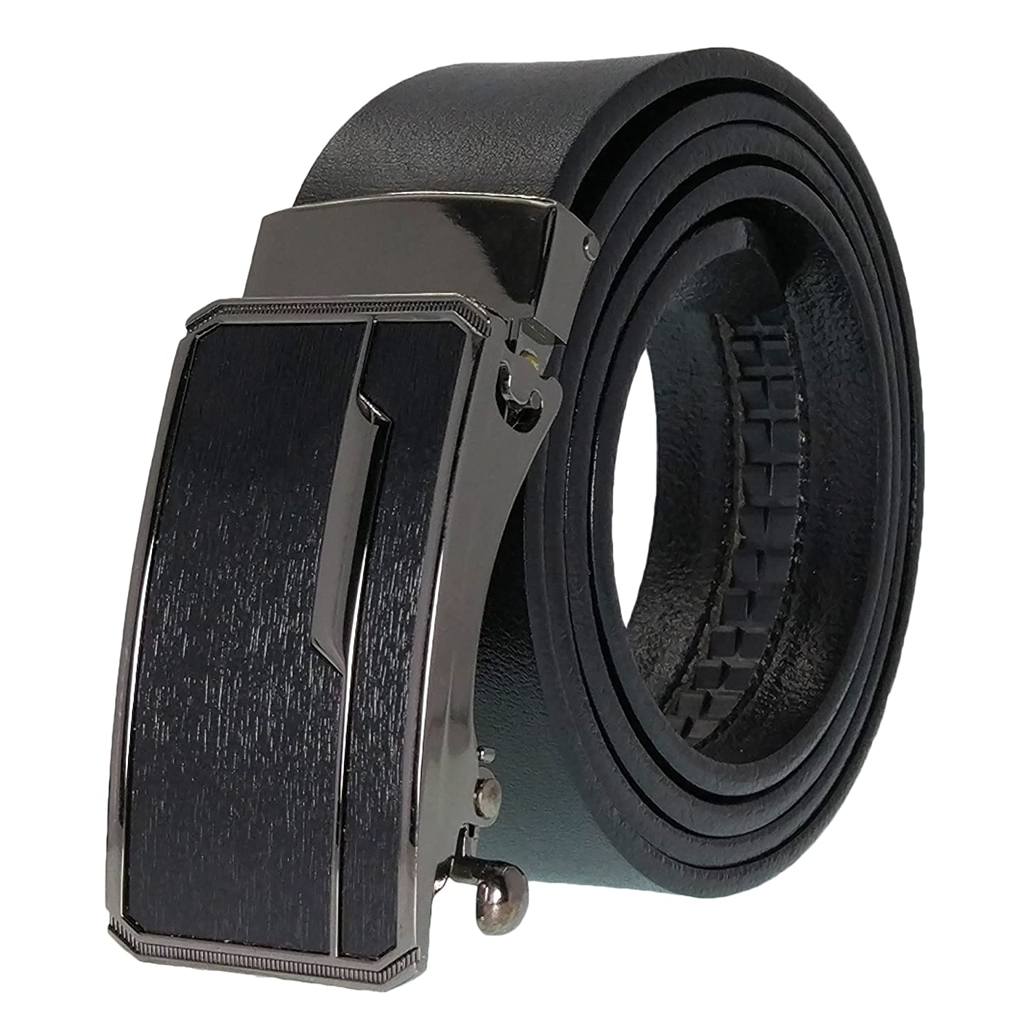 Men's Belt,West Leathers Slide Ratchet Belt for Men with Genuine Leather,Trim to Fit Men's Belt Lbelt-5-1-42
