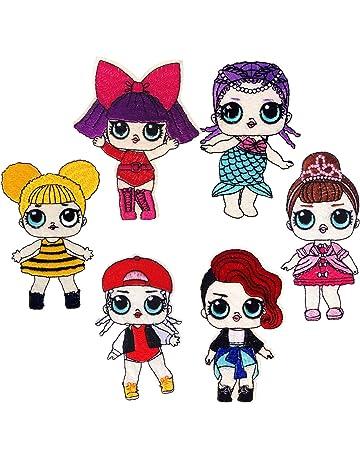6 PCS LOL Bambole Sorpresa Toppe Termoadesive per Bambini Vestiti Jeans 87ac115b5a71