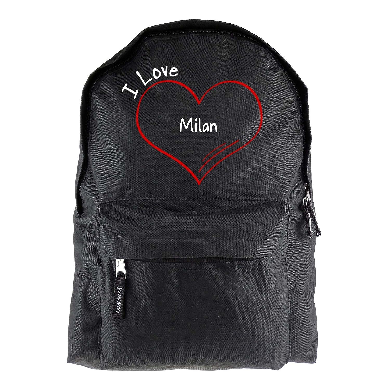 Milan I Love modern mochila negro: Amazon.es: Deportes y aire libre