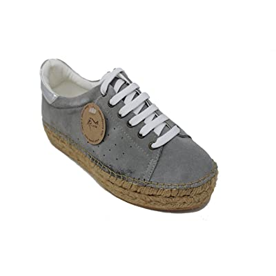 macarena Espadrille Fashion Sneaker, Patri75SE Suede Leather Espejo Leather