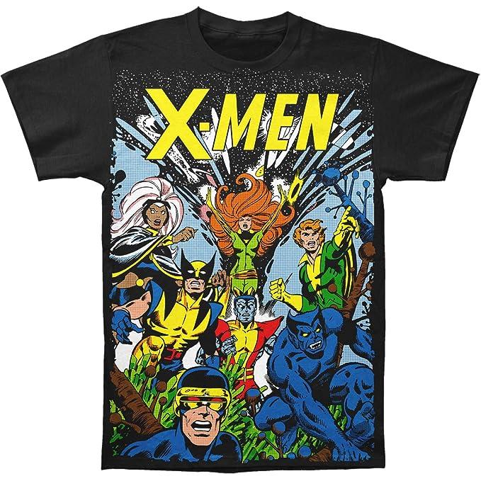 9c6e468c Amazon.com: X-Men Marvel Comics The Gang Big Print Subway T-Shirt ...