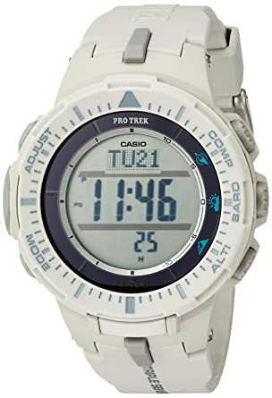 Amazon.com  Casio Men s  ProTrek Triple Sensor  Quartz Resin Watch ... 269efac84