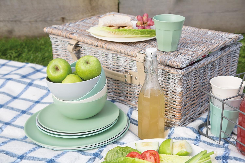 Set of 4 Classics Colours Colourworks Extra-Large Melamine Plastic Dinner Plates