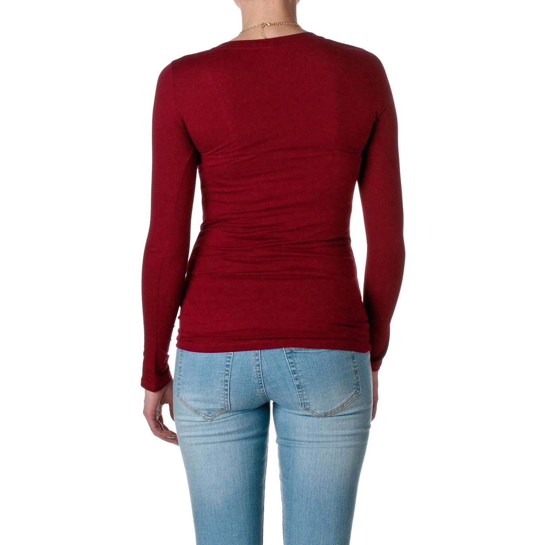 Hollywood Star Fashion Long Sleeve Crewneck Tee T Shirt Cotton Top