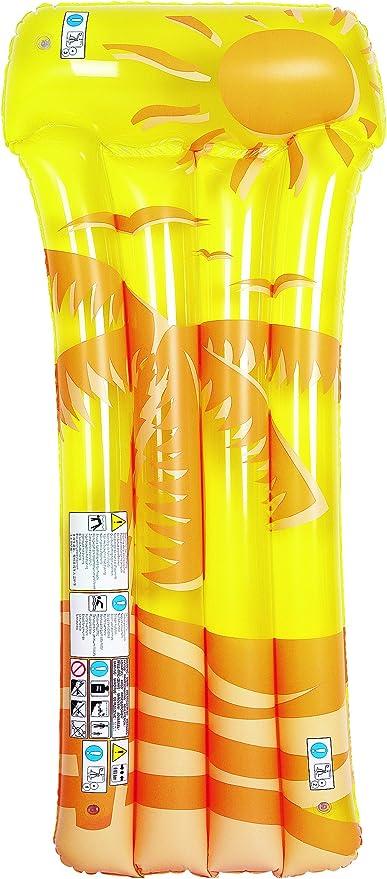 Jilong 27130–Colchón Deluxe Palmeras, colores surtidos