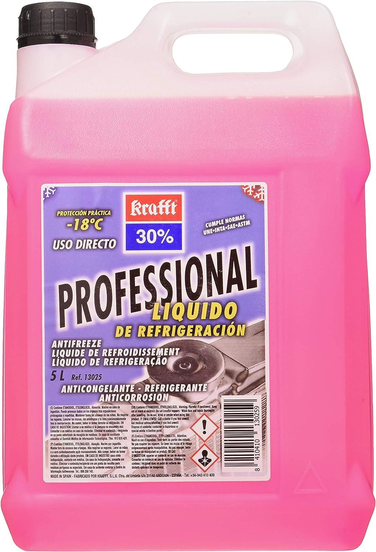 Krafft 13035 Fluido Refrigeración-Anticongelante CC30%, 5 litros