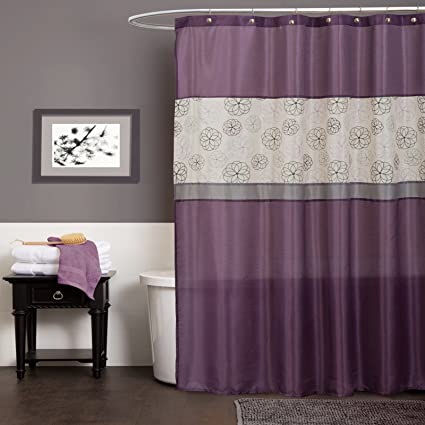 Lush Decor Covina Shower Curtain Purple