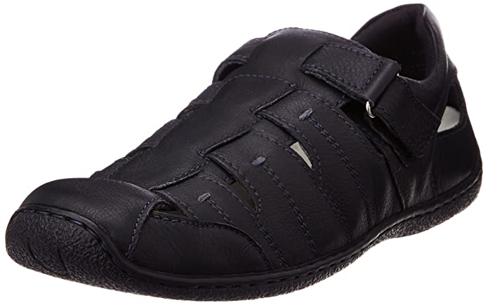Hush Puppies Men's Oily Fisherman Leather Athletic & Outdoor Sandals Men's Fashion Sandals at amazon