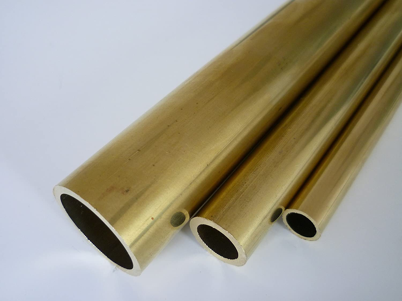 B/&T Metall Messing Rohr /Ø 4,0 x 0.5 mm rund CuZn37 ca 500 mm lang Legierung Ms63