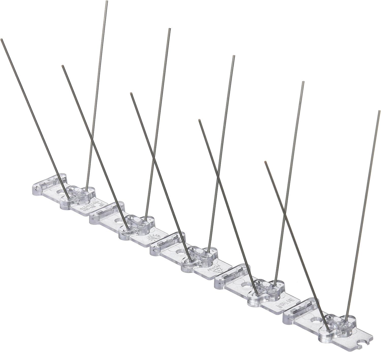 25x8x11 cm Oldisfer Spike Track S-80 Anti Palomas Transparente