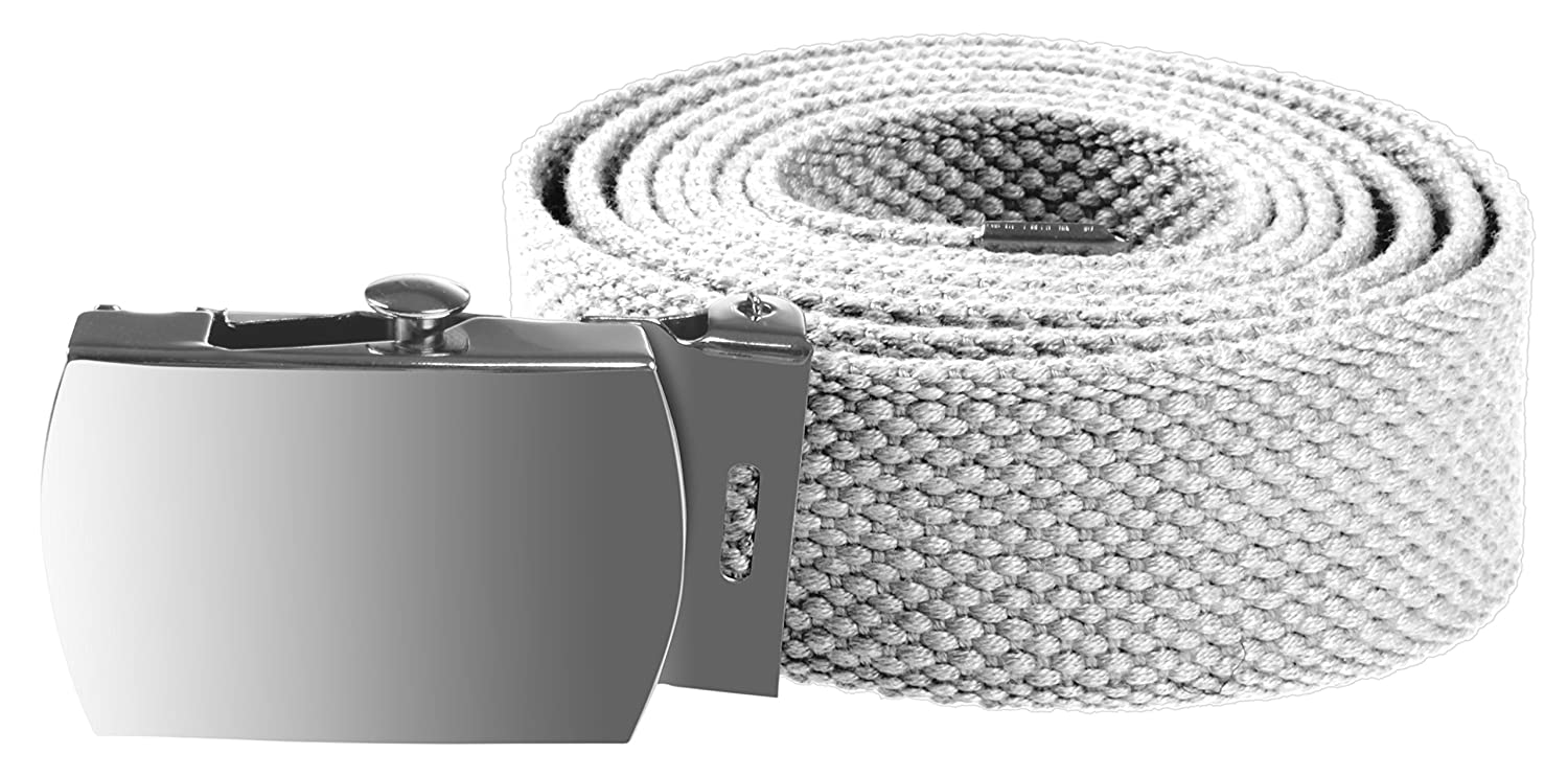 Enimay Kids Canvas Belt Woven Military Silver Roller Buckle Many Colors
